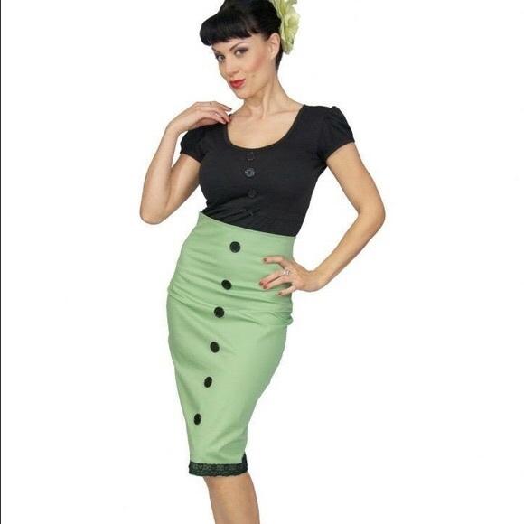 870e857742 Rock Steady olive green high waisted pencil skirt.  M_5ab9b620077b97d2e3a2674b